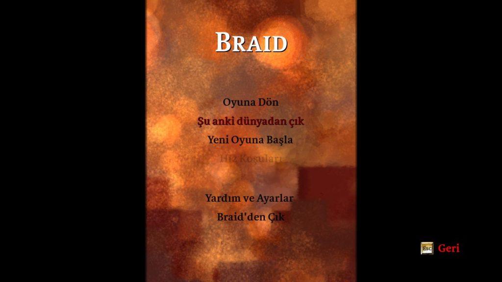 Braid %100 Türkçe Yama